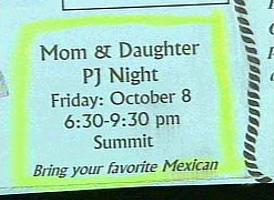 You must bring your own mexican cause mom and daughter are going to finish theirs